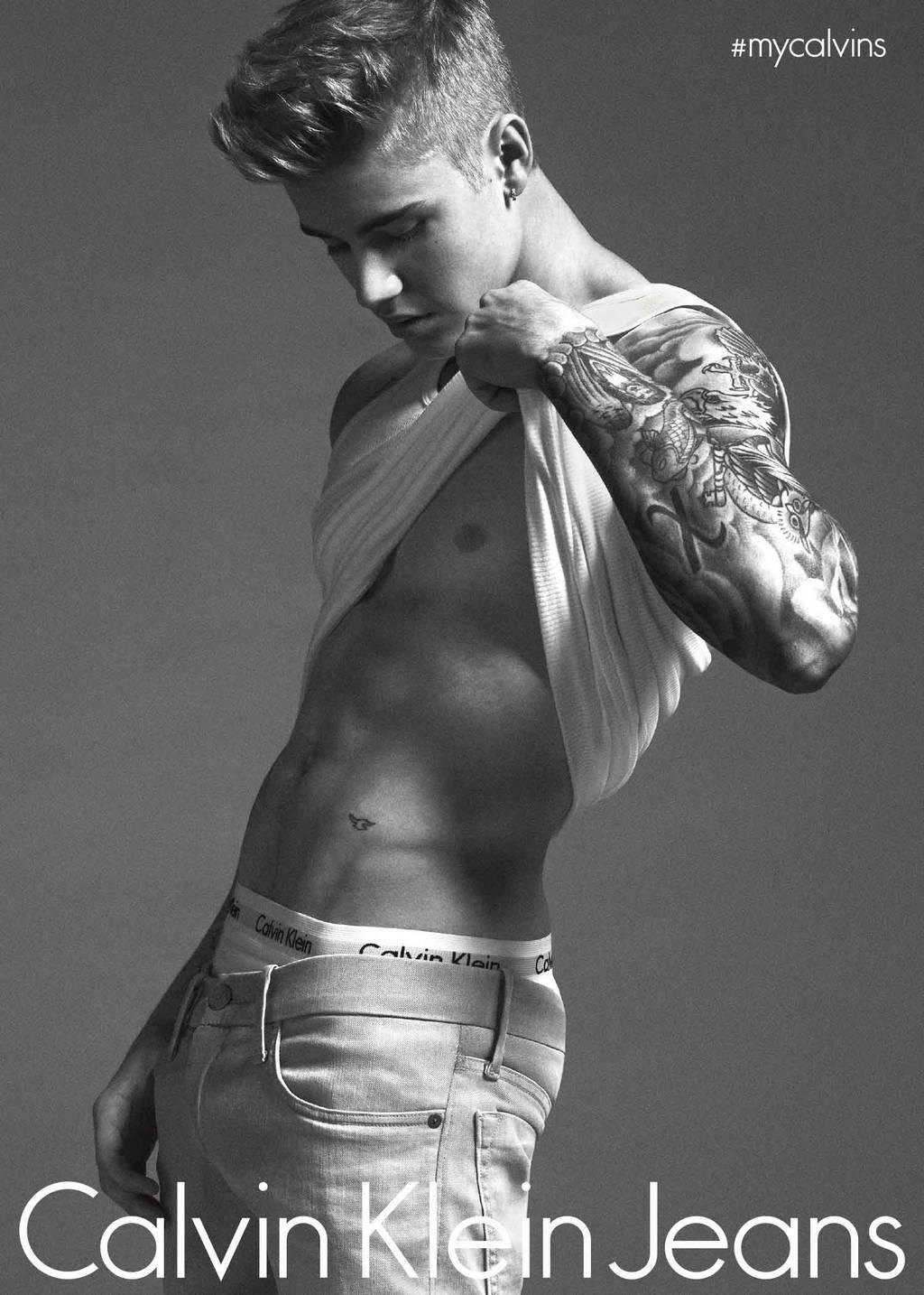 Justin Beiber calvin klein jeans