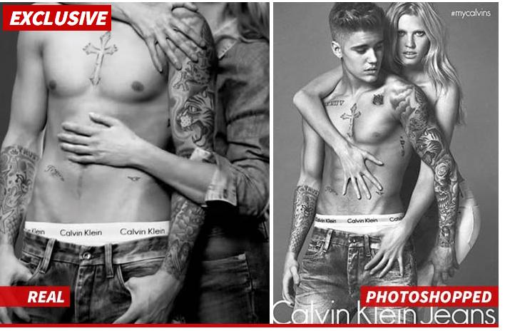 Justin Bieber Photo Shop Photoshopped TMZ ad